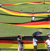 Bangladesh fan unfurls 3.5 km German flag before World Cup