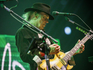 Gaza rocket fire torpedoes Neil Young Tel Aviv gig