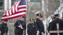 Memorial held for policeman slain after Boston Marathon bombing