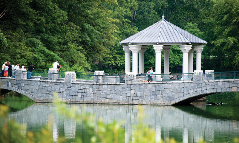 Piedmont Park hosts some of the best festivals in the country, but sometimes a couple just wants to take a quiet walk.