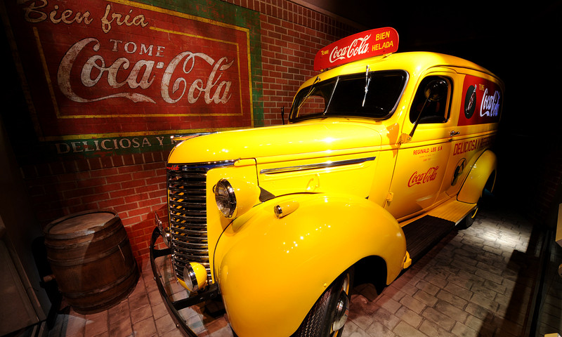 This delivery truck from 1939 is among the exhibits at World of Coca-Cola.