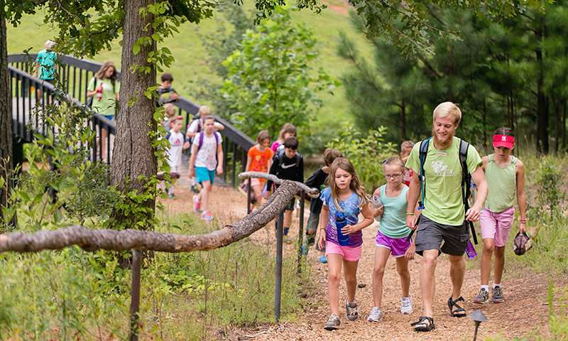 Explore the outdoors at Camp Serenbe.