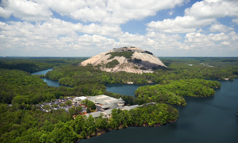 Stone Mountain Park is the most popular destination in Georgia.