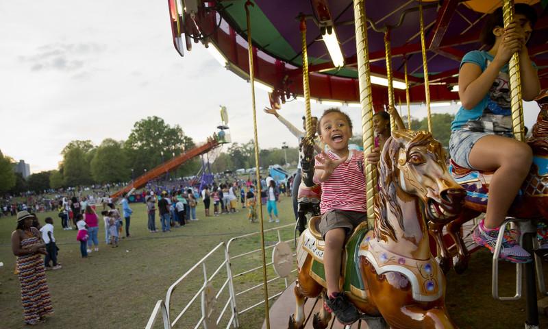 Friday is Family Day at the Atlanta Dogwood Festival.