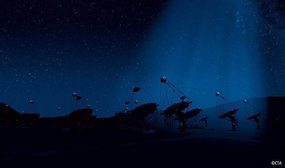 メインビジュアル : 宇宙の謎を解く!世界最大のガンマ線天文台(CTA)を支える