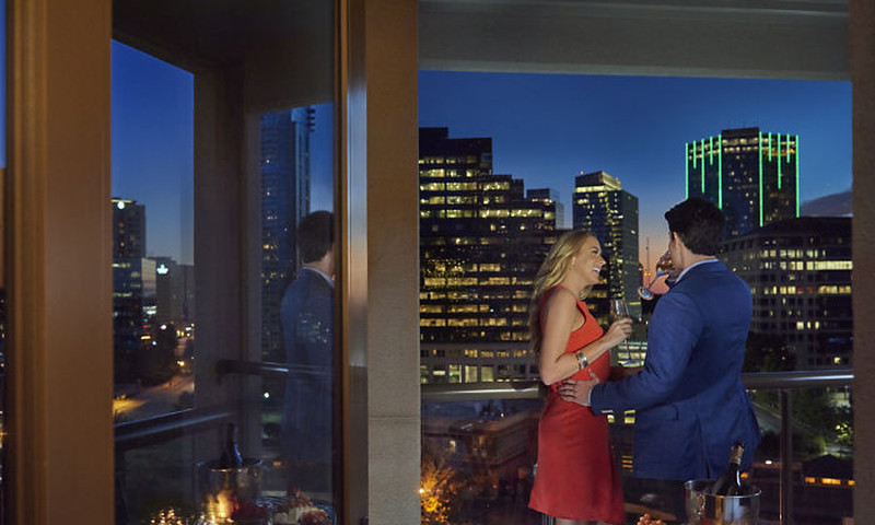 The Mandarin Oriental offers luxurious rooms and suites, some with outdoor balconies.