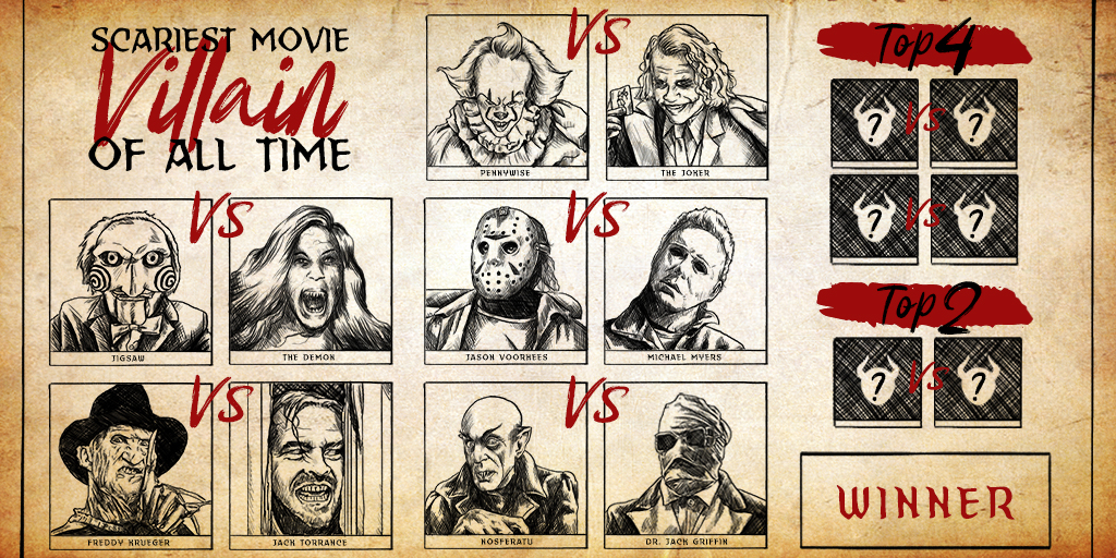 The Scariest Movie Villain of All Time Showdown: Round 2