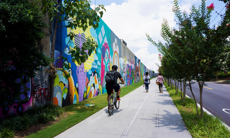 Cycle and fly through ATL. Get a first-person glimpse of the city's beauty.
