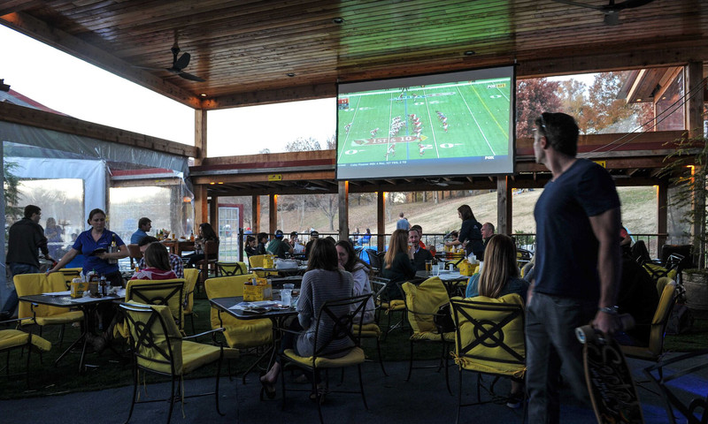 Park Tavern, next to Piedmont Park in Midtown, offers great food and lots of football viewing.