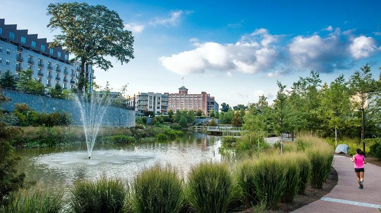 Atlanta Historic Fourth Ward Park Fountain