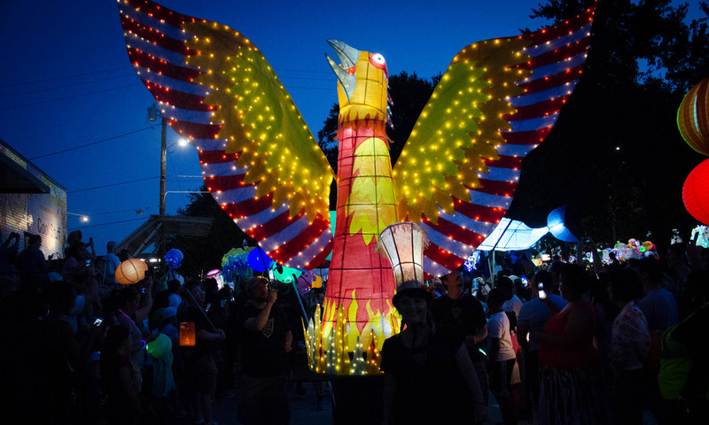 Join the Lantern Parade and walk through Atlanta's in-town neighborhoods .