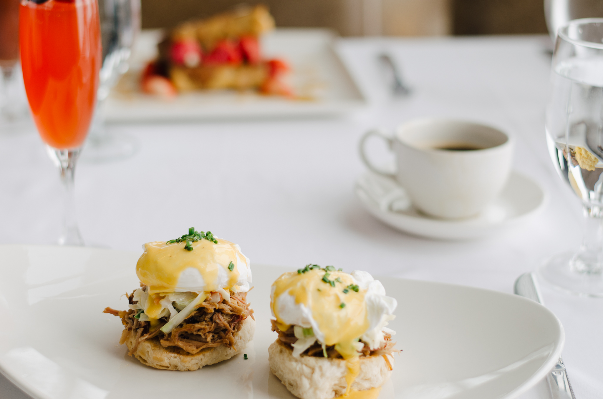 Have brunch at the Sun Dial Room in the Westin Peachtree Plaza Hotel and enjoy the magnificent view.