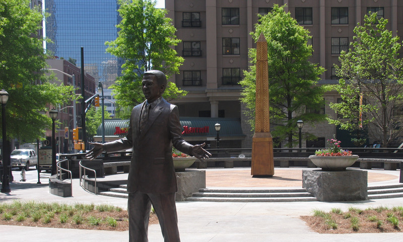 Perhaps make time to see some Atlanta civil rights monuments like this one of Andrew Young.