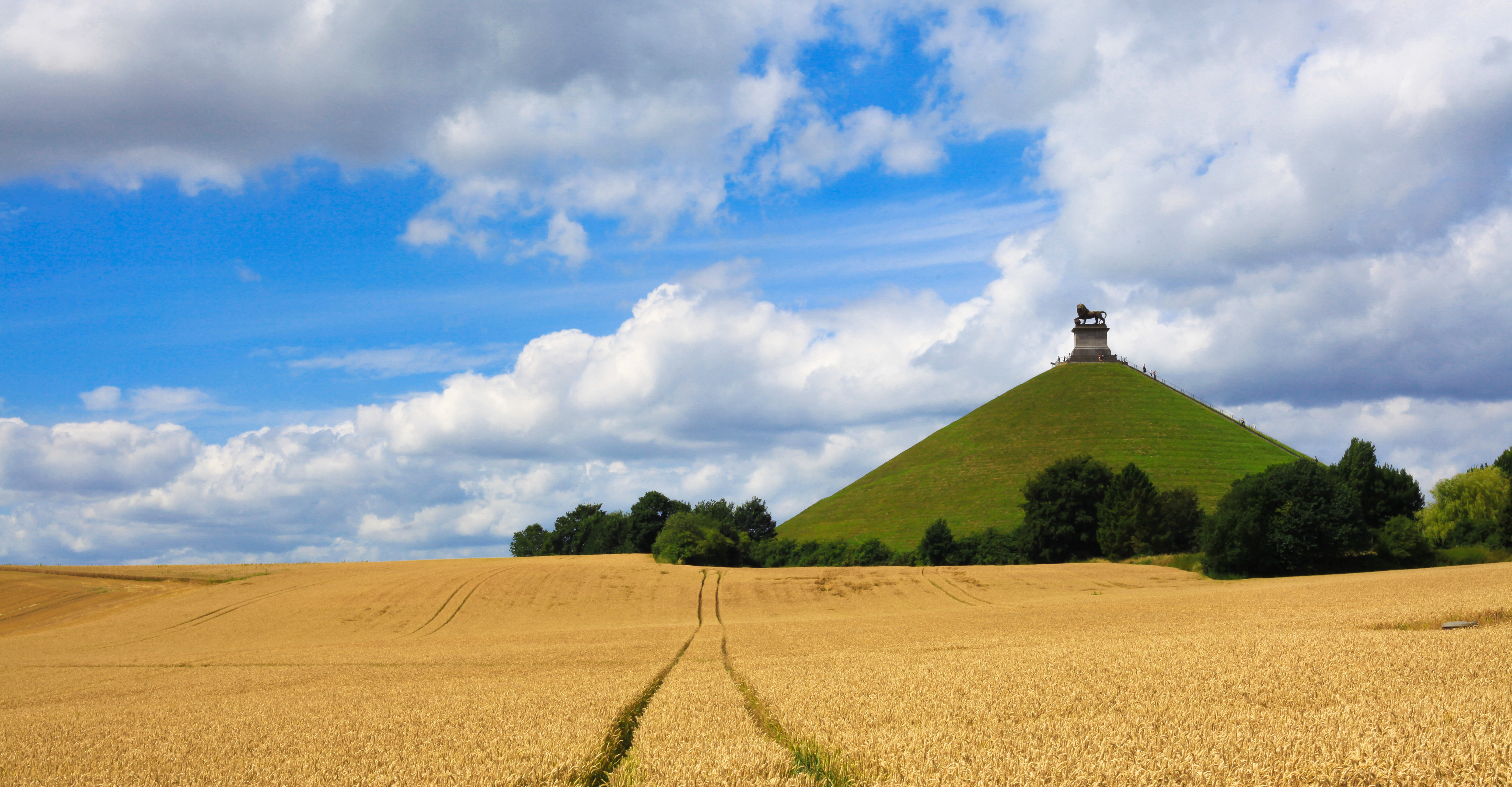 Wheat Fields of Butte Du Lion, Waterloo, Belgium