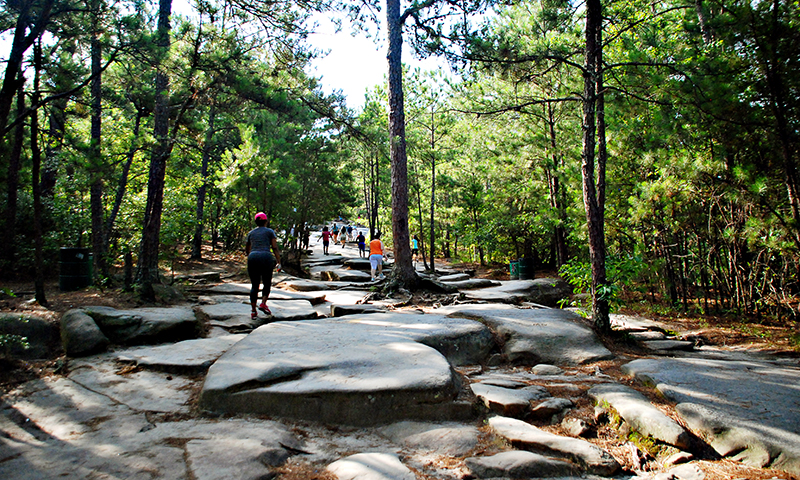 Climb Stone Mountain for fresh air and an unparalleled view of Atlanta.