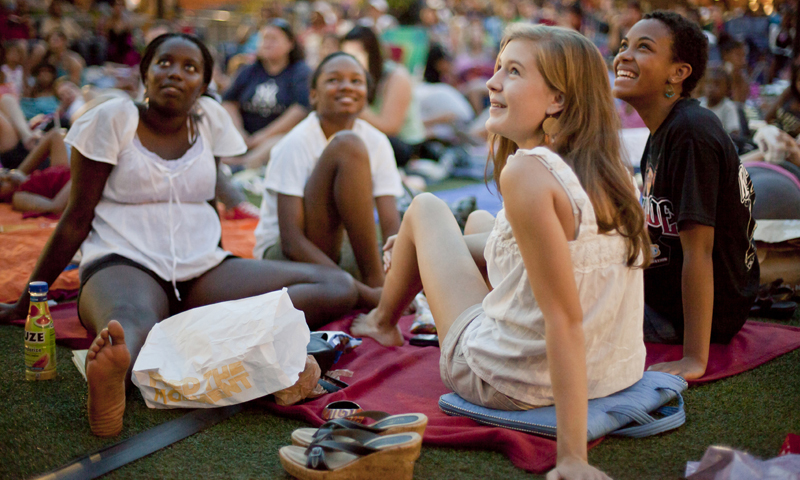 Watch summer movies under the stars at Atlantic Station.