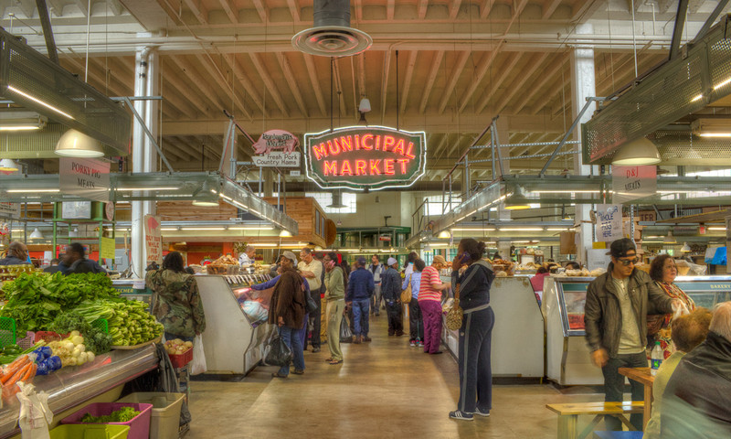 Do your grocery shopping and have lunch at the Sweet Auburn Curb Market.
