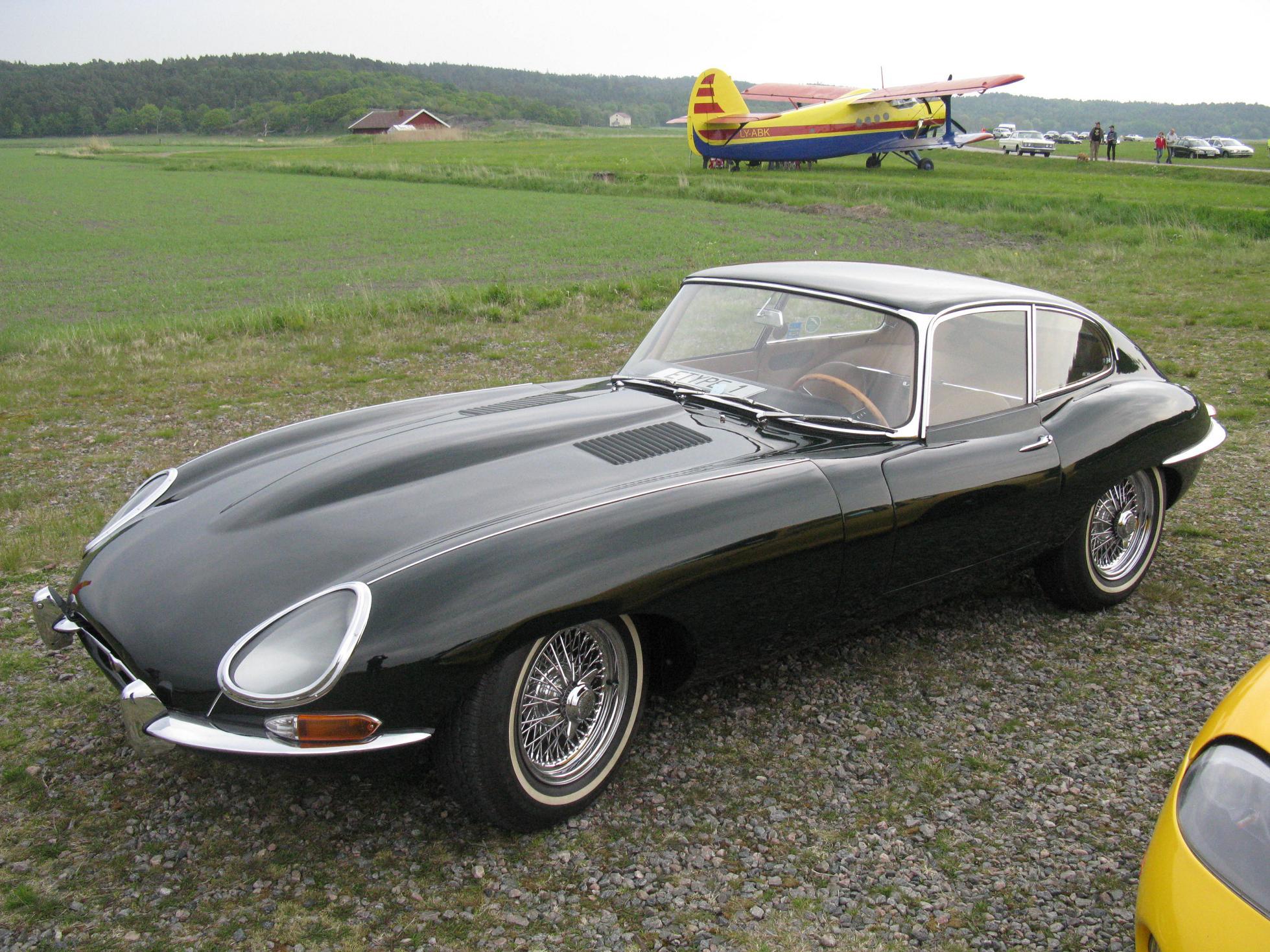 Image of an E-Type Jaguar classic car