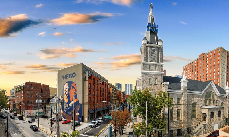 Sweet Auburn Historic District in Downtown Atlanta (📷 Gene Phillips, AtlantaPhotos.com)