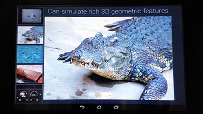 メインビジュアル : 液晶画面に触れると「本物の手触り」!?表示されたモノを指先で感じられる新技術
