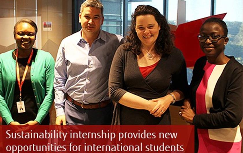 Main visual : Fujitsu's sustainability internship provides new opportunities for international students