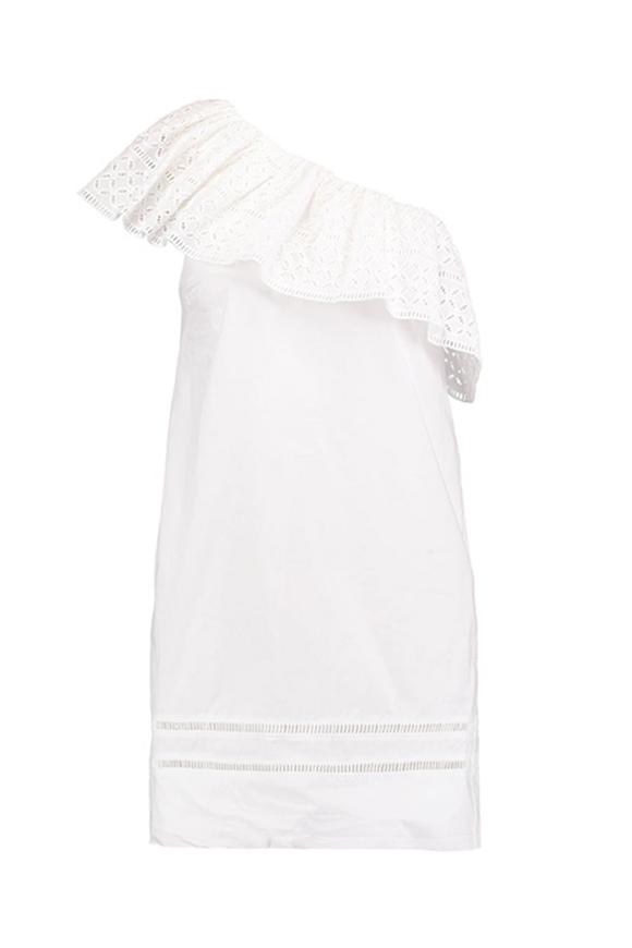 One Shoulder Piece in Weiß