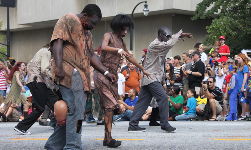 "Don't forget ""The Walking Dead"" is filmed in Atlanta. Zombie costume, anyone?"