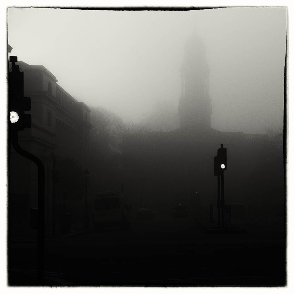 Street Covered In Fog