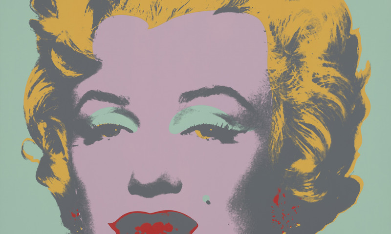 Betcha can't stop staring at Andy Warhol's Marilyn.