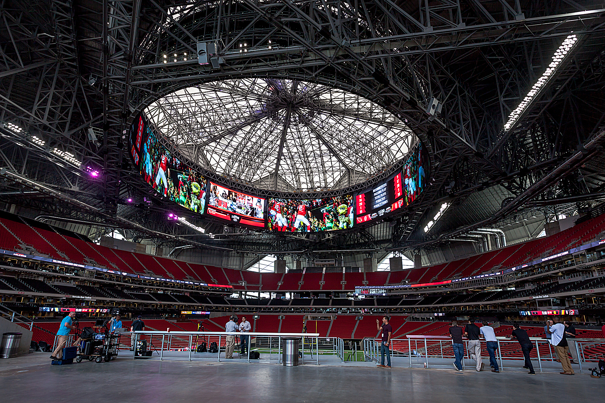 Take a behind the scenes look at mercedes benz stadium for Atlanta ga mercedes benz stadium