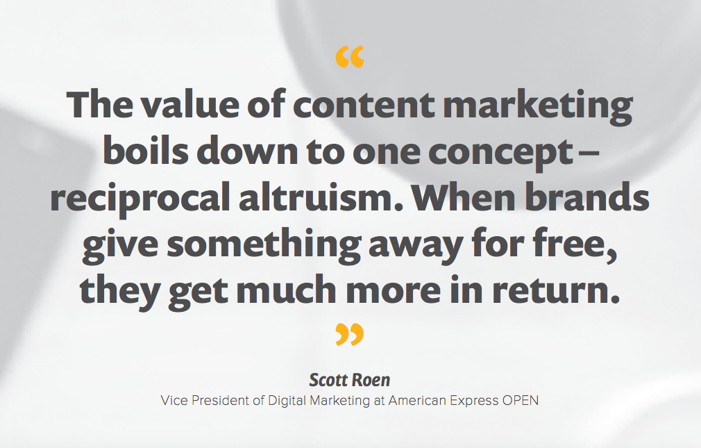 A 10 step blueprint to content marketing success content marketing quote by scott roen malvernweather Gallery