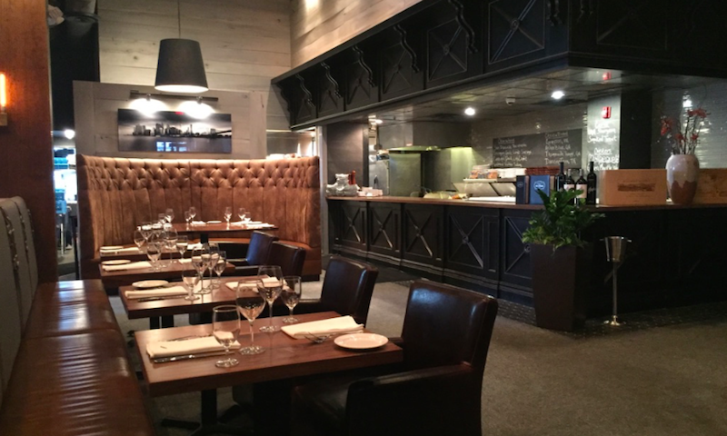 Comfy seating and quiet spaces make for an intimate lunch at 101 Steak.
