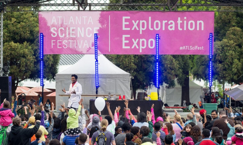 Bring the family and celebrate the love of learning at Centennial Olympic Park. (photo Atlanta Science Festival)
