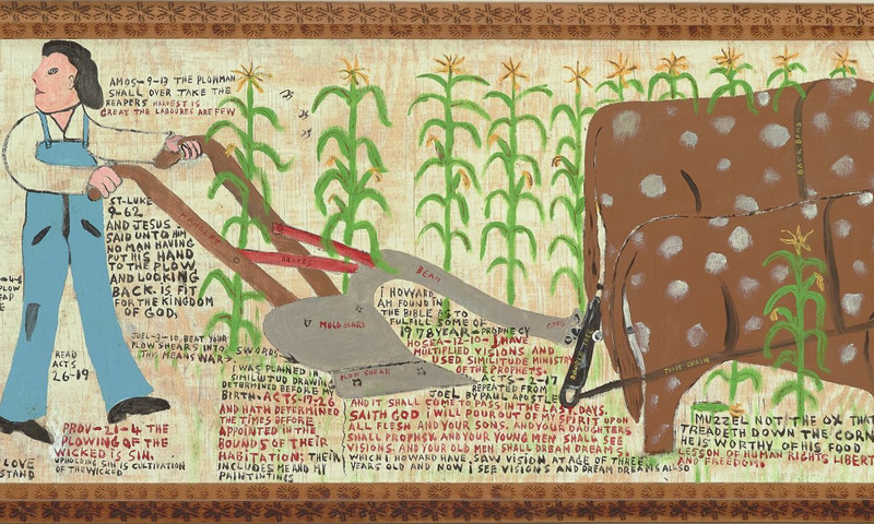 "See Howard Finster's ""Take My Yoke Upon You and Learn of Me Saith Jesus,"" at the High."