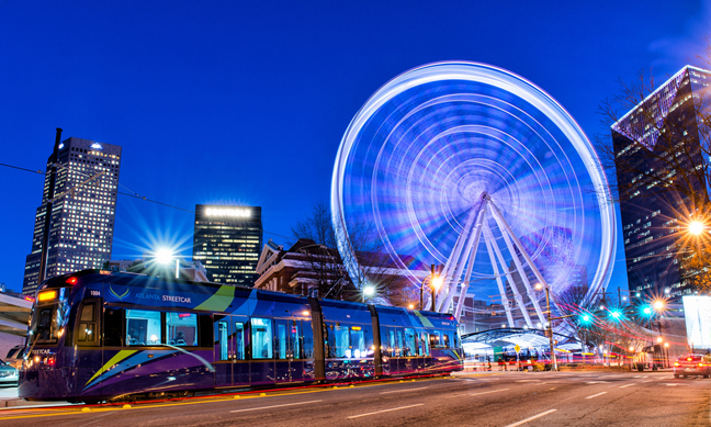 Atlanta Streetcar Sky View