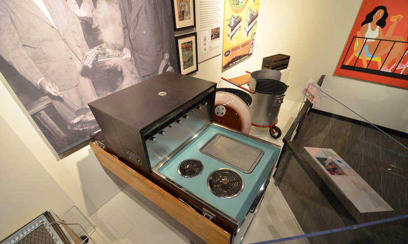 An innovative grill that belonged to President Eisenhower is on display. (Scott White)