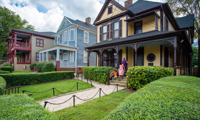 Martin Luther King Jr. was born in this house on Auburn Avenue.