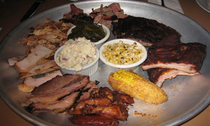 No one's going home hungry after this sample platter from DBA Barbecue.