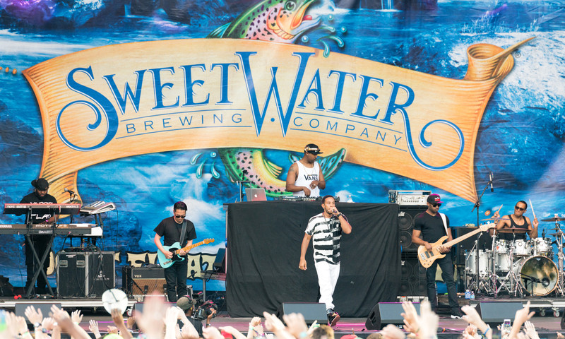 Atlanta rapper Ludacris rocks the crowd at SweetWater 420 Festival.
