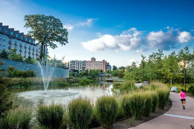 Historic Fourth Ward Park Fountain