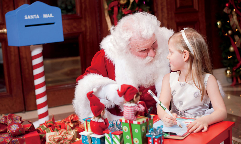 Believe it or not, Santa makes a special visit to the Ritz-Carlton Atlanta.