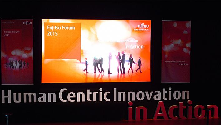 メインビジュアル : 富士通フォーラム2015 基調講演「Human Centric Innovation in Action」
