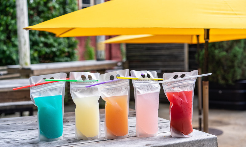 Walk the Atlanta BeltLine, find the yellow umbrellas and order up your favorite drinks to go. (📷 Ladybird Grove & Mess Hall)