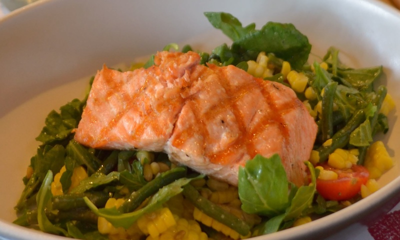 Full of Omega-3s, is the salmon salad at Sway.