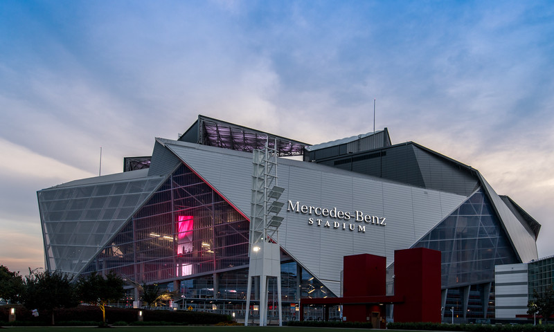 Cheer the Atlanta Falcons as they play the Carolina Panthers on New Year's Eve. (Mercedes-Benz Stadium)