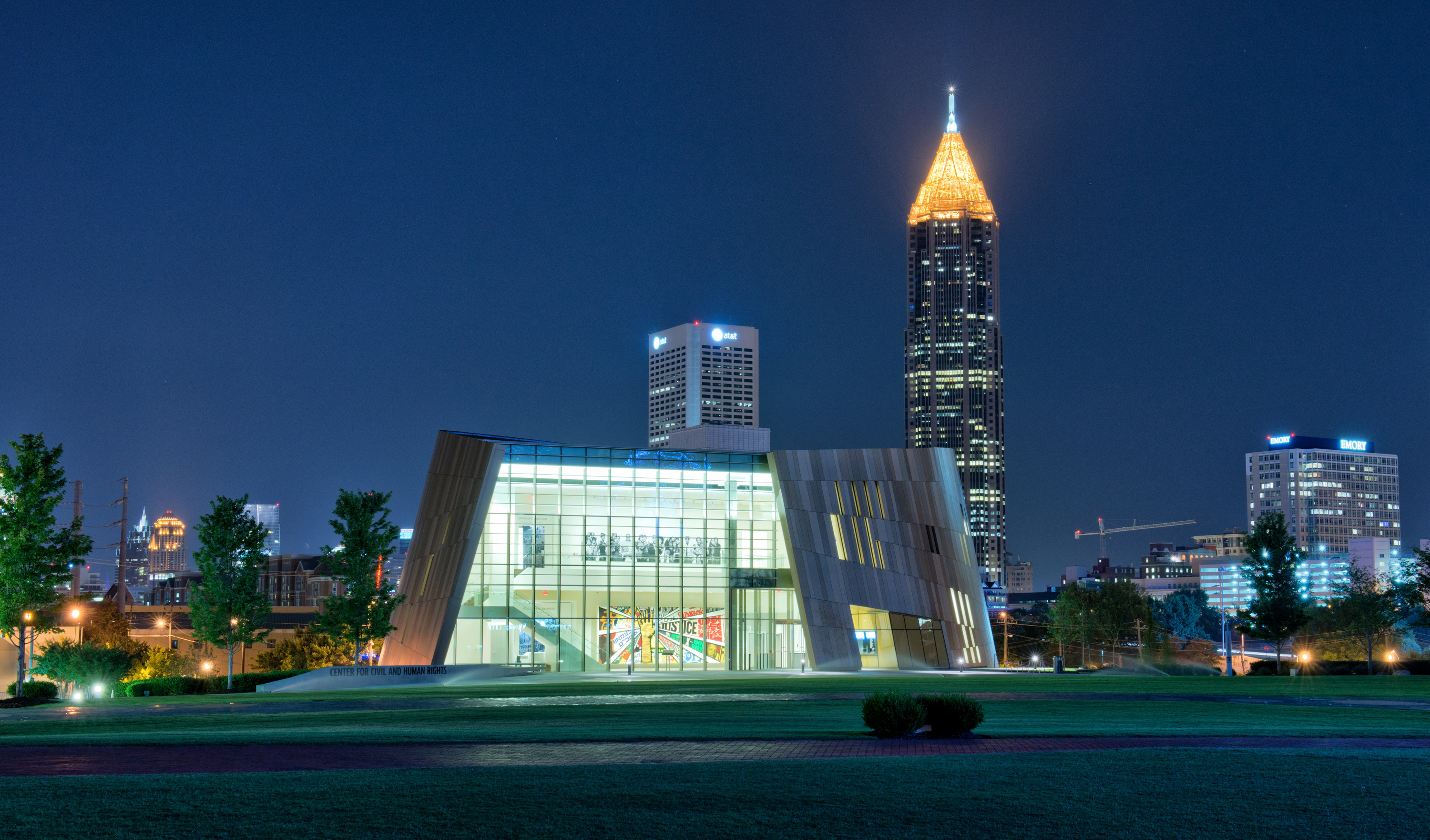 Atlanta-Center-Civil-Human-Rights-Exterior-Skyline-Night