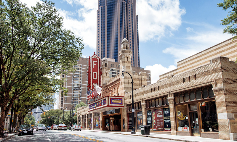 The fabulous Fox Theatre was originally designed as a lavish movie theatre in the 1940s. (Gene Phillips, AtlantaPhotos.com)