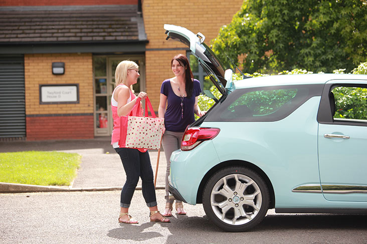 Motability Schemc customer accessing boot of her Motability Scheme car