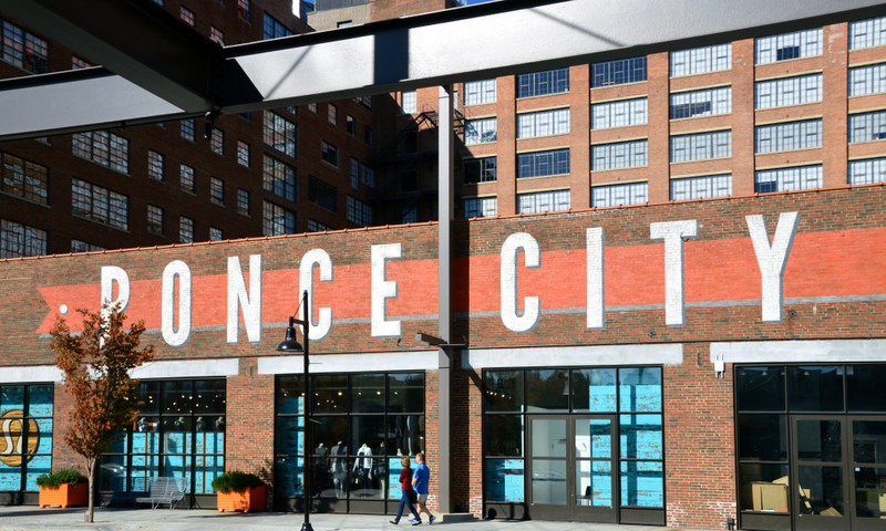 Ponce City Market, near the BeltLine's Eastside Trail, offers prepared foods and fresh produce. (Lisa Panero)