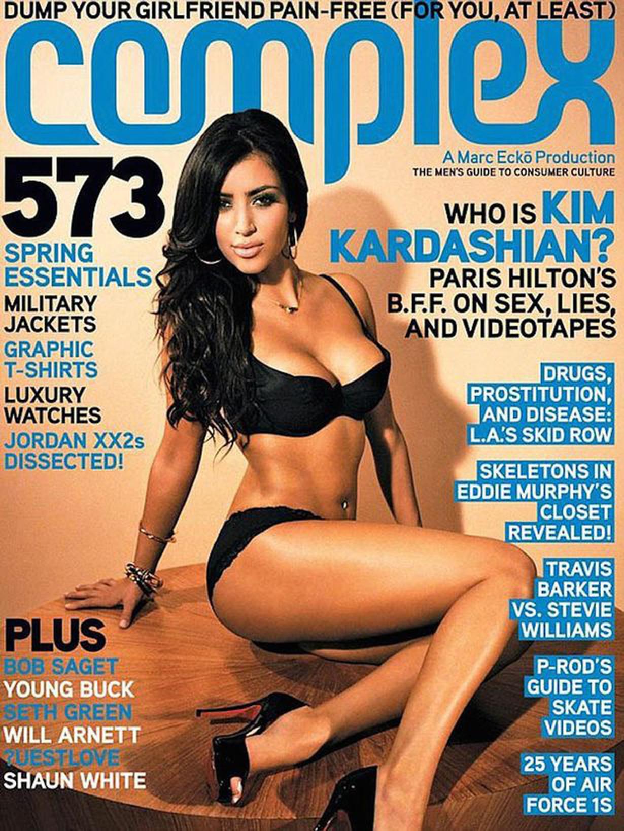 Kim Kardashain cover complex magazine